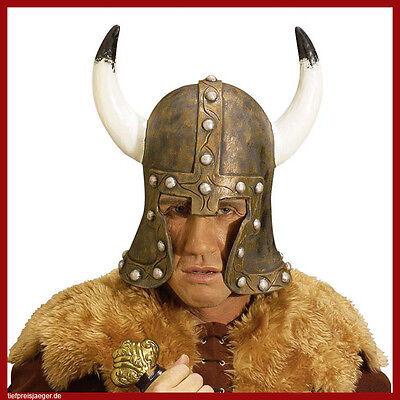 LATEX BARBAR HELM # Barbarenhelm Wikinger Krieger Hunnen Hut Kostüm Zubehör 6782