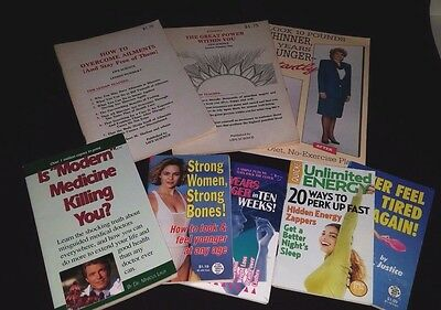 Lot of 8 Mini Paperback Nutrition, Health, Exercise Books