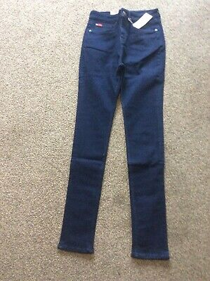 BNWT NEXT high rise SKINNY Super rip Ladies New jeans black raw hem 10R 12R