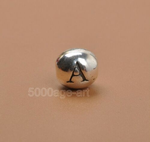 60pcs lettres Tibetan Silver Oval Loose Spacer Charme Perles Bead 6x7mm