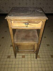 Table de nuit - Table de nuit haute en bois - Table de chevet
