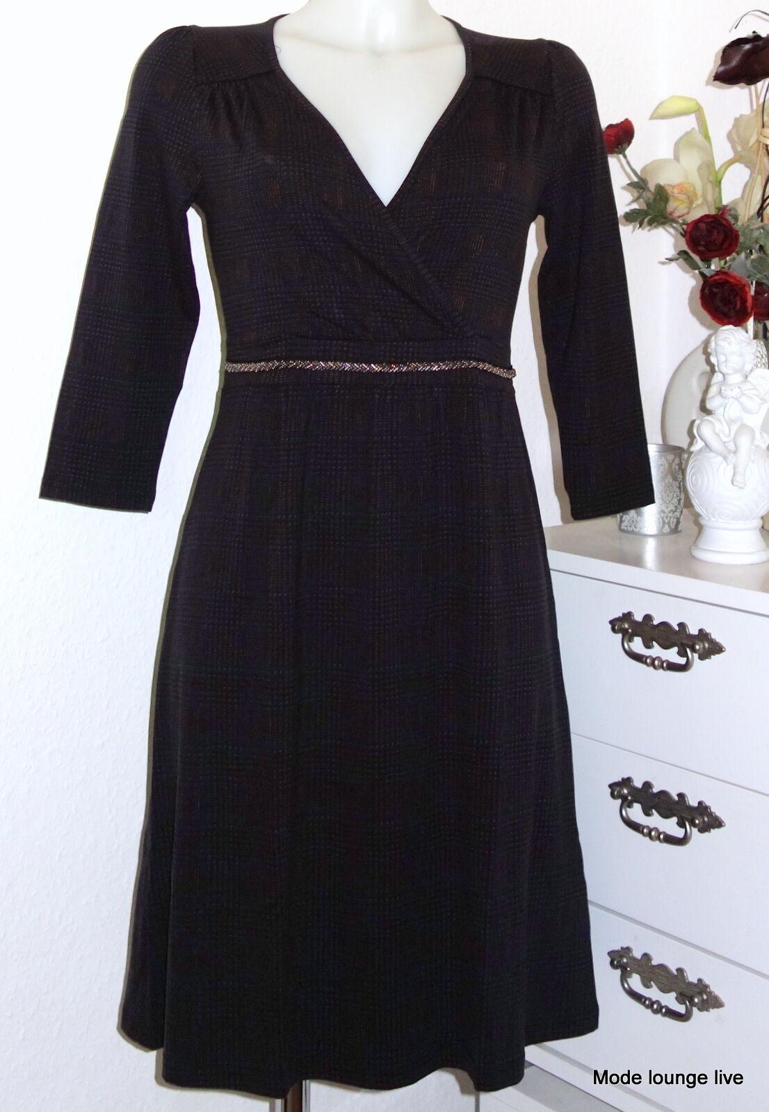 Vive Maria elegantes Kleid Downtown Girl Dress Glitzer Gürtel-Borte schwarz 317262