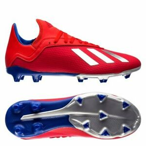 a8ffca180a4 adidas X 18.3 FG 2018 Soccer Shoes Cleats Red- White - Royal Kids ...