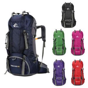 60L-Camping-Travel-Rucksack-Trekking-Outdoor-Backpack-Hiking-Bag-Daypacks-Unisex