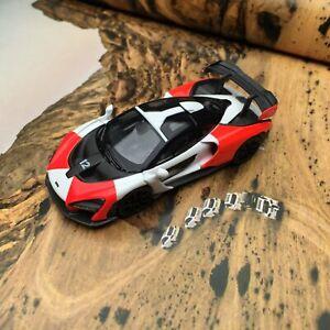 New-1-64-TSM-Mini-GT-Mclaren-Senna-diecat-car-model-Orange-white-MGT00081