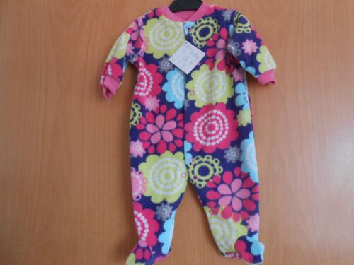 BNWT Baby Girls Fleece Sleepsuit Multi Coloured Flowers Lovely Item