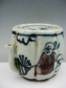 Collectible-China-Blue-amp-White-Porcelain-Hand-Painted-Water-Dropper