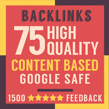 75 High Domain Authority DA50+ Content Niche Related Backlinks + Full Report