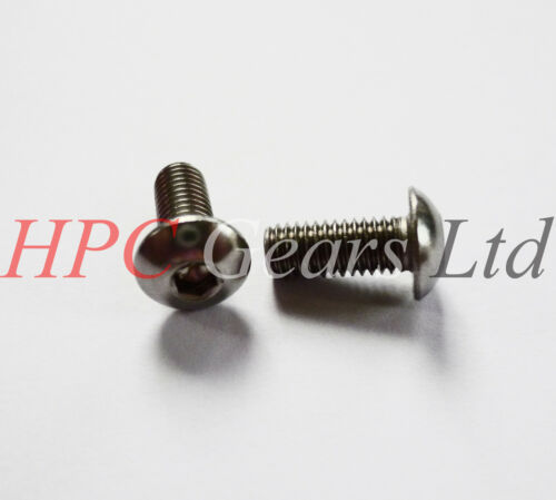 A2 Stainless Steel Socket Buttons Screws M5 M6 M8 NEW Pack of 10