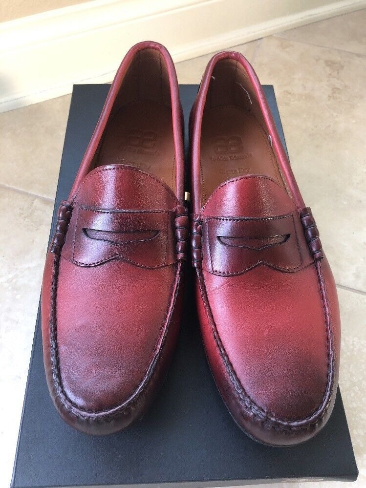 New With Box Allen Edmonds SIESTA KEY Penny Loafers 13 D Red Color
