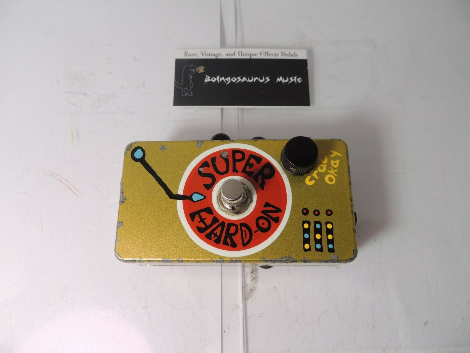 2006 ZVex Super Hard On Compressor Effects Pedal Original Hand Painted