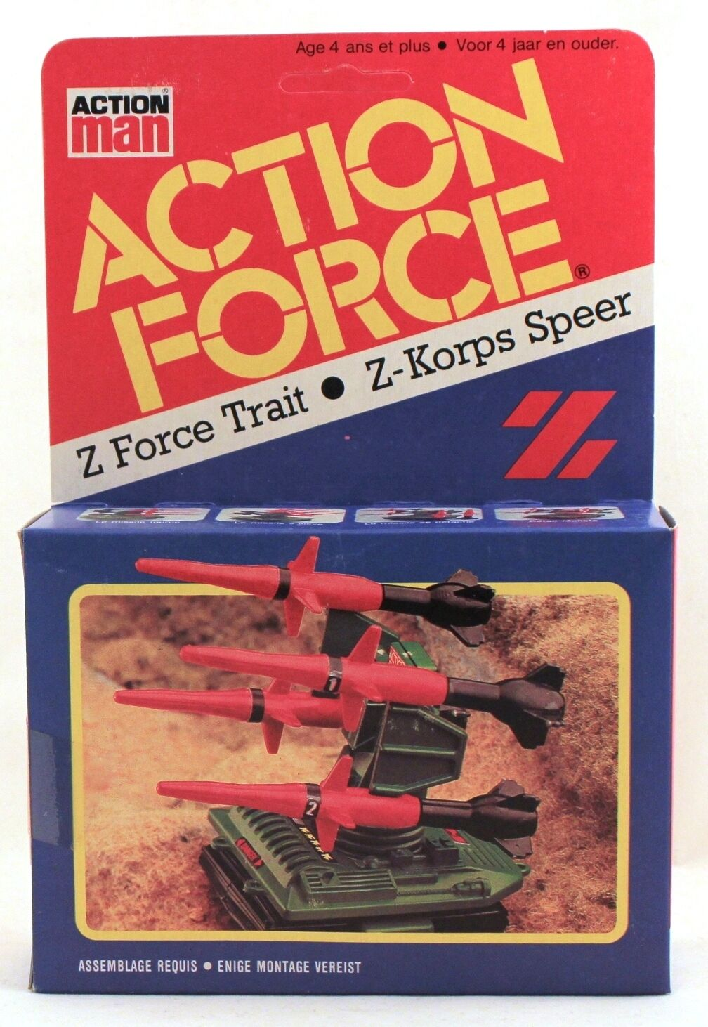 1983 Action Force Z FORCE DART   GI Joe MISSILE LAUNCHER (PAC RAT) sealed in box
