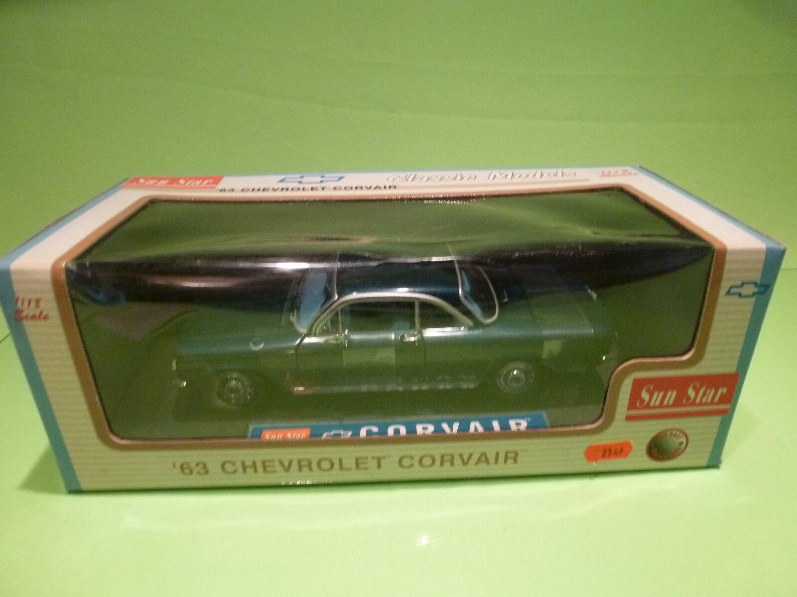 orden en línea SUNEstrella AMERICAN MUSCLE 1482 CHEVROLET  CORVAIR CORVAIR CORVAIR 1963  - azul 1 18 - NMIB  descuentos y mas