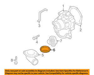 subaru oem 96 16 legacy 2 5l h4 engine water pump gasket 21236aa010 rh ebay com Subaru Boxer Engine Diagram Subaru Engine Breakdown