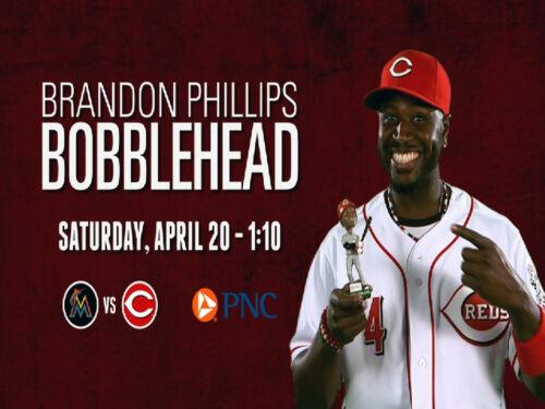 Brandon Phillips Bobblehead Cincinnati Reds SGA 4//20//13 with ticket stub