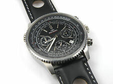 Da Uomo Rotary Aquaspeed Cronografo Quadrante Nero Acciaio Inox GS00100-04