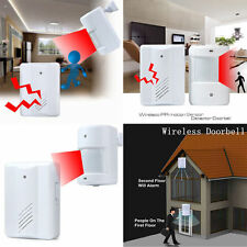 WIRELESS MOTION SENSOR DETECTOR DOOR GATE ENTRY BELL CHIME ALERT ALARM CLOCK