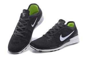 9223f64118eb Women s Nike Free 5.0 TR Fit 5 Athletic Training Running Shoes Black ...