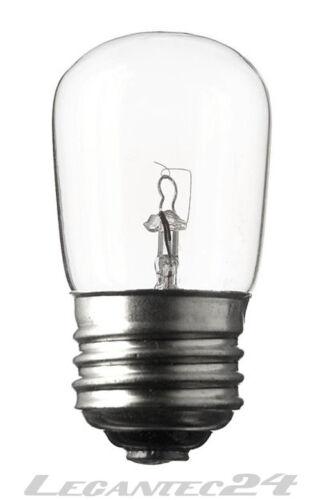 Glühlampe 50V 15W E27 28x64mm klar Glühbirne Lampe Birne 50Volt 15Watt neu