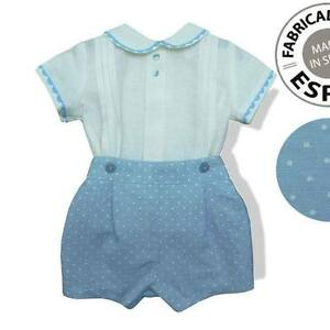 955c9c987 Image is loading Baby-Boys-Spanish-Traditional-Romper-Shirt-amp-Shorts-