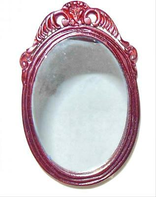 BESPAQ  OVAL  MIRROR CARVED  DOLLHOUSE FURNITURE MINIATURES
