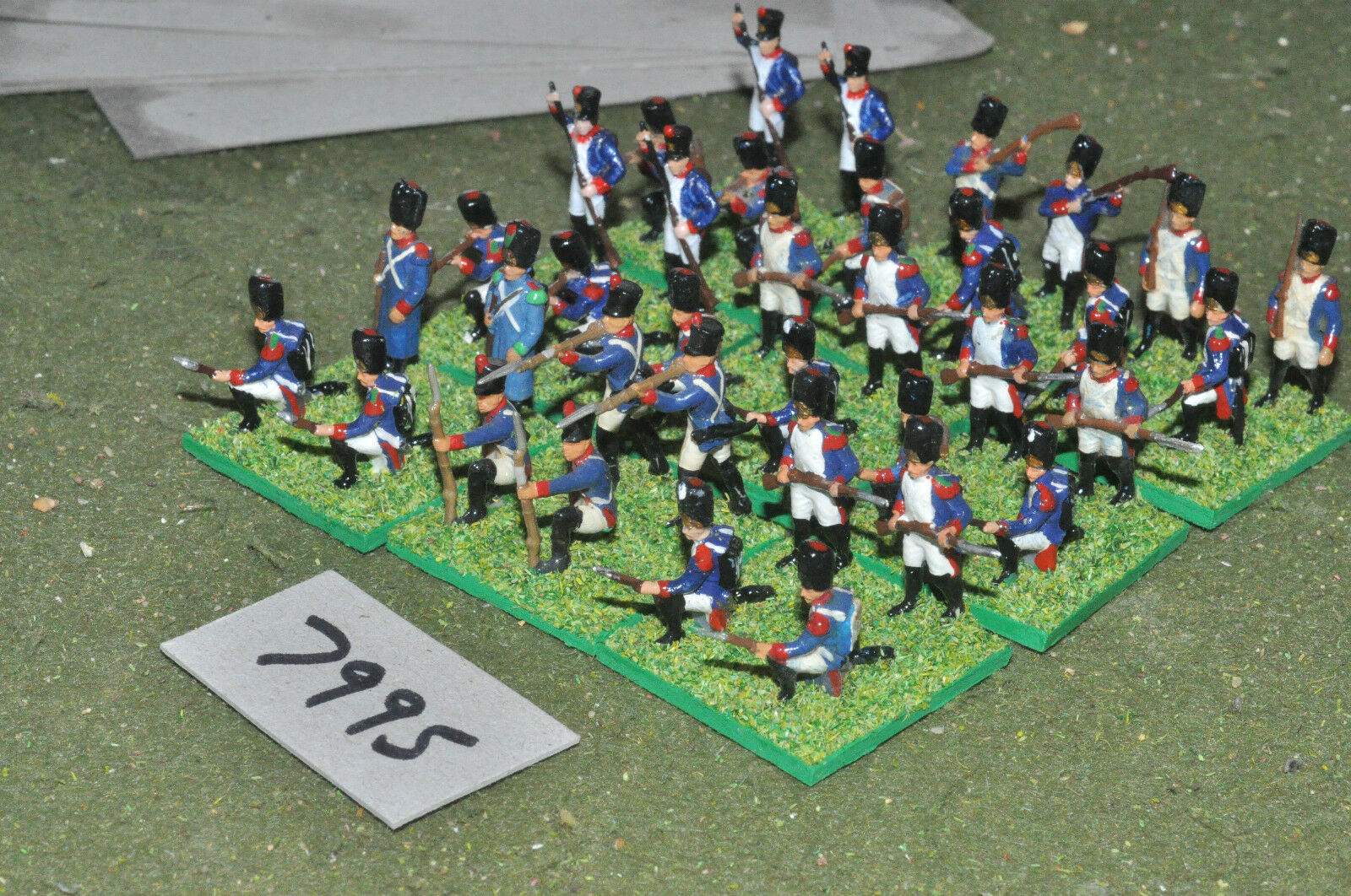 20mm napoleonic   french - infantry plastic 36 figs painted - inf (7995)