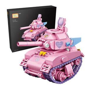 Bausteine LOZ-1118 Rosa Panzer Kinder  Spielzeug Modell Bausätze 455PCS OVP