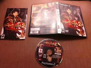 Sony-PlayStation-2-PS2-CIB-Complete-Tested-Onimusha-2-Samurai-039-s-Destiny-Ships-Fa