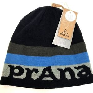 prAna Hat Beanie Reversible Spell Out Winter Unisex Cap One Size NWT ... f422336c6df