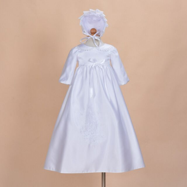 Cinda Baby Girls Traditional Satin Christening Gown and Bonnet