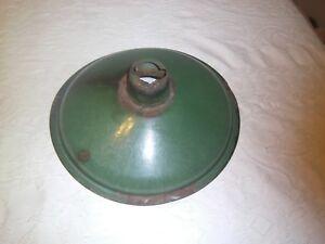 Details About Vintage Service Station Green Porcelain Light Fixture Shade Lighting
