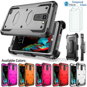 buy online 37095 1a6f9 Details about For LG K10 (2016) / LG Premier LTE Slim Hybrid Armor Case  Protective Phone Cover