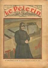 Abbé Charlon Air field Lille Brevet Pilote Pilotage steering 1933 ILLUSTRATION