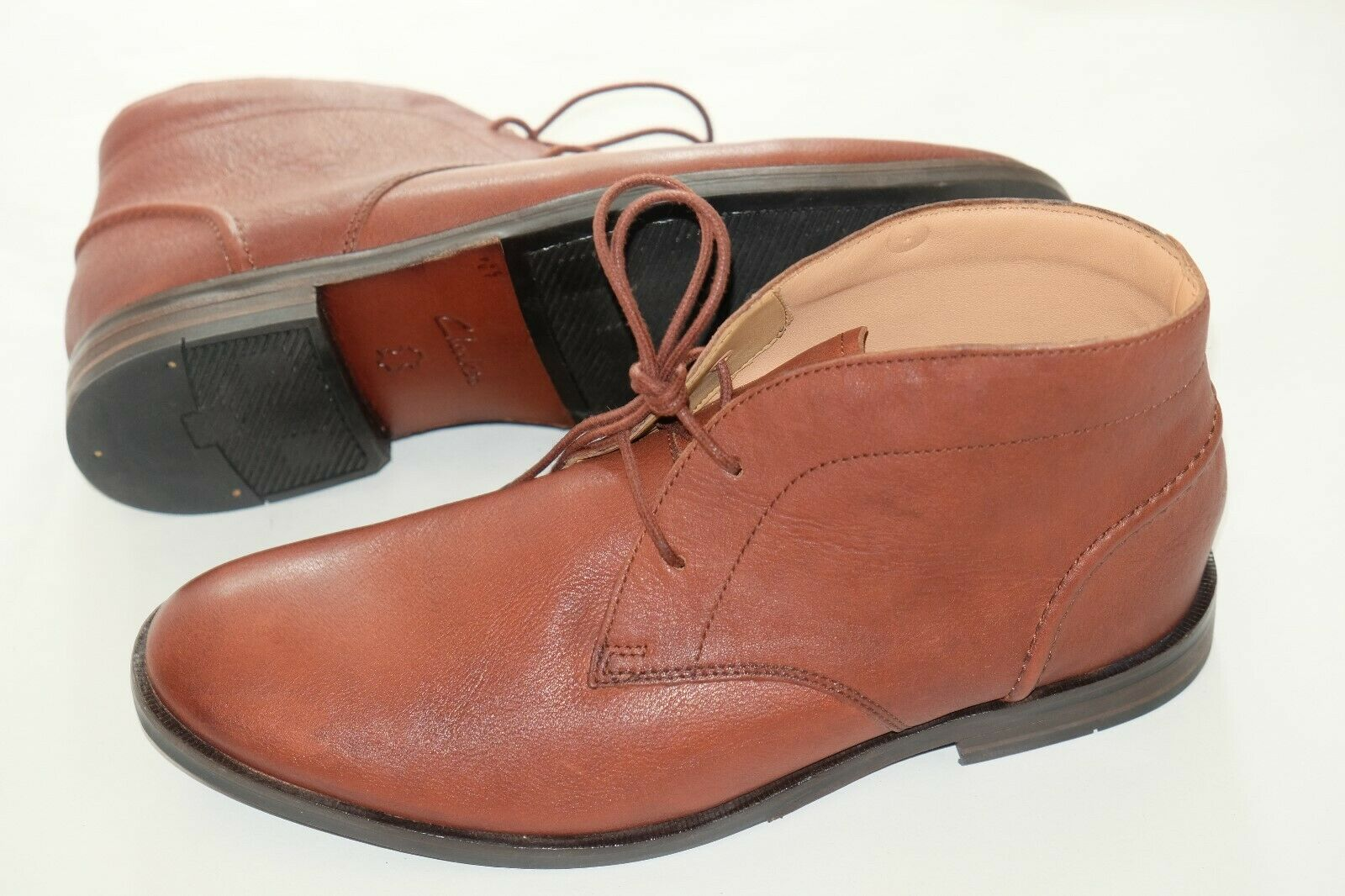Clarks Tan Leather Mens ankle boots sizes 7/41 - 10.5/45 G RRP