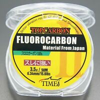 Fluorocarbon Fishing Line 15.6lb/50m Color Clear Material From Japan