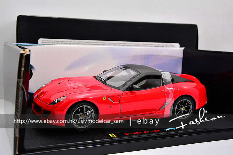 Hot wheels 1 18 ferrari 599 GTO ELITE rosso