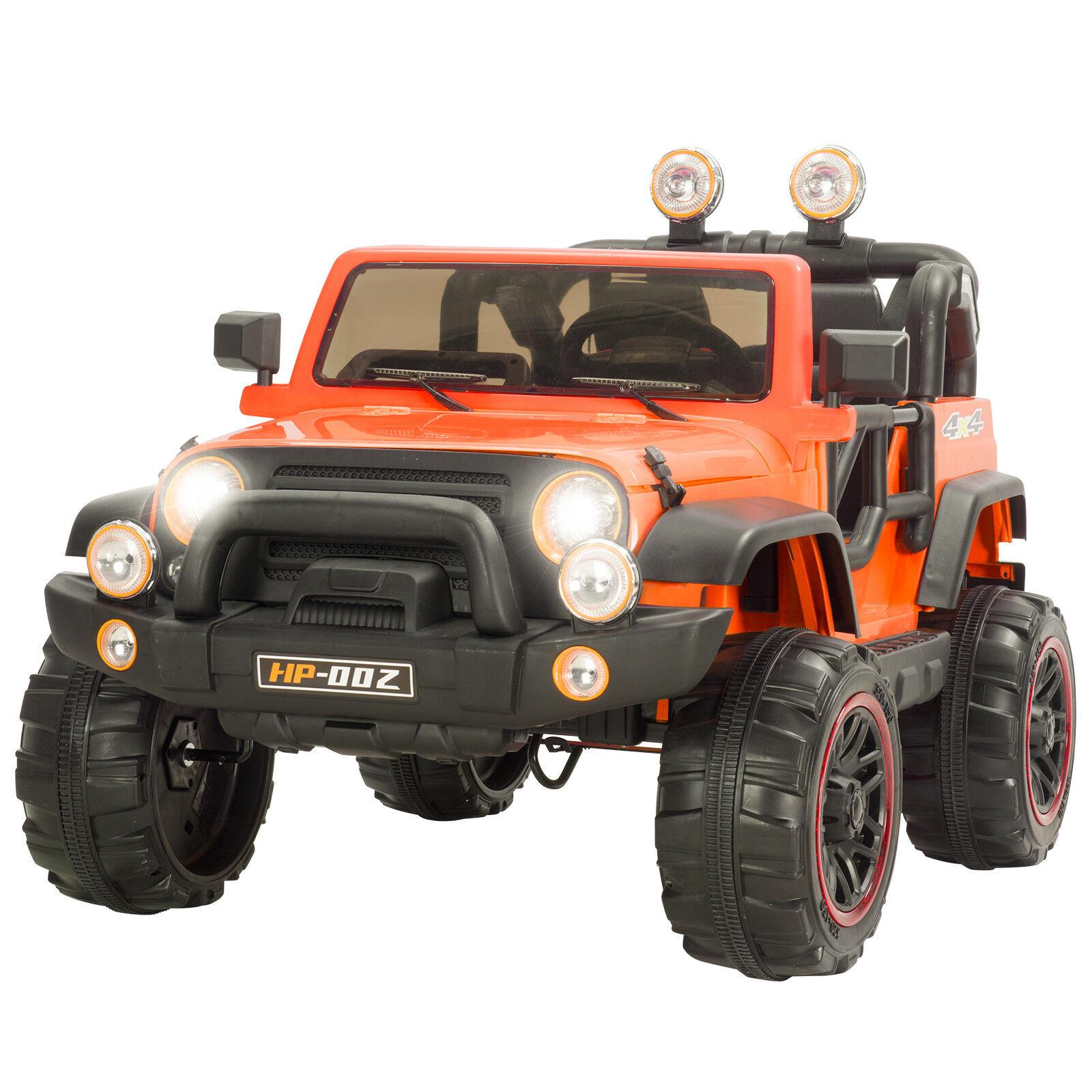 12v fahrt auf jeep - auto mit fernbedienung, 2 geschwindigkeit, led - licht, mp3 - Orange