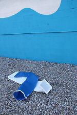 International 110 Spinnaker Sock / Sailboat sail tube Spi Blue Mesh White darcon