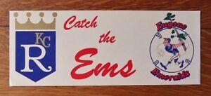 >1980's Kansas City Royals EUGENE EMERALDS BUMPER STICKER Minor League Baseball