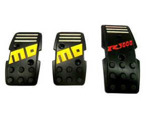 Momo Style R3000 Black Aluminium Non Slip Gas Brake Pedal Pad Manual Car 3 PCS