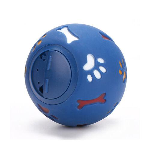 Pet Dog Puppy Cat Training Dental Toy Rubber Ball Chew Treat Dispensing Holder H