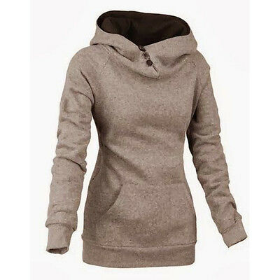 Womens Sport Fleece Hoodie Coat GYM Pullover Jacket Sweatshirt Sportswear Jumper