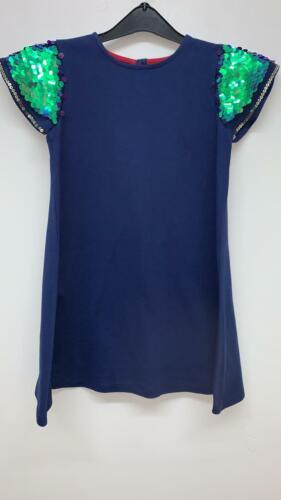 NEW RRP £15.40  Mini Boden Girls/' Sequin Sleeve  Party Dress U26