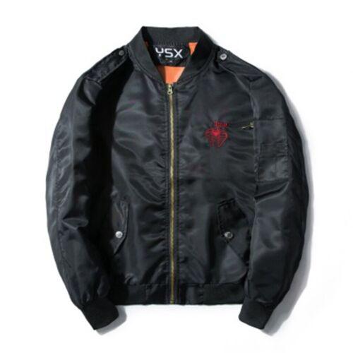 Women Embroidery Snake Bomber Jacket Coat Windbrake Sports Down Outwear Parka UK