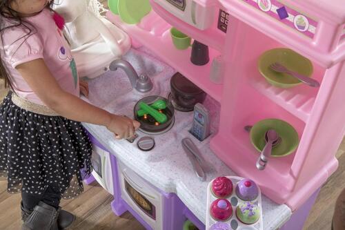 Kitchens Kids Pretend Play Set Brand New Step2 Sweet Baker S Kitchen Pink Purple Woodland Resort Com