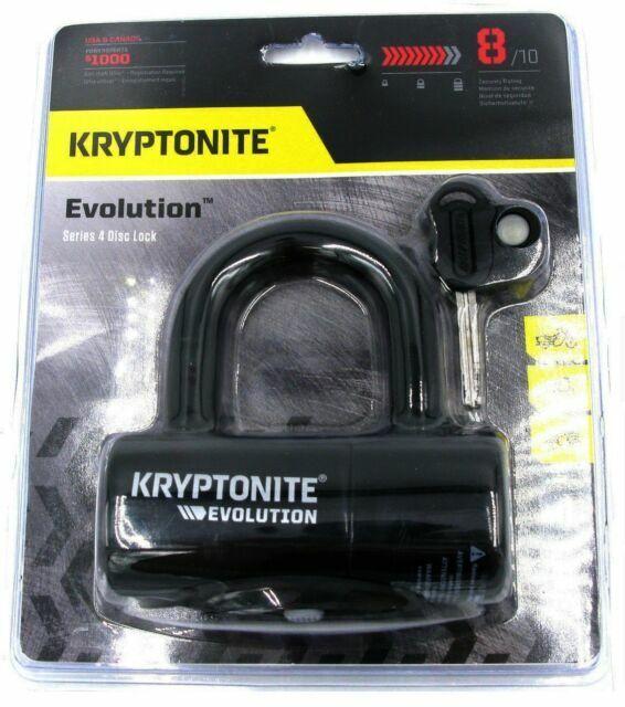 Kryptonite Evolution Series 4 Disc Lock Black Key with LED Light