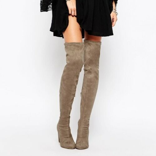 ASOS KEY TO MY HEART Lace Up Over the Knee Boot Si