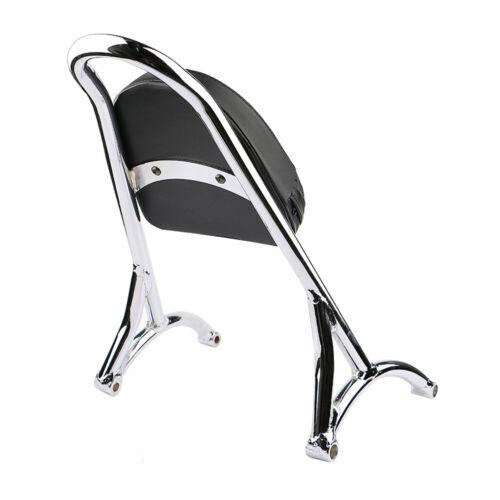 Burly Chrome Short Sissy Bar Backrest with Pad For Harley Sportster 1200 883 XL