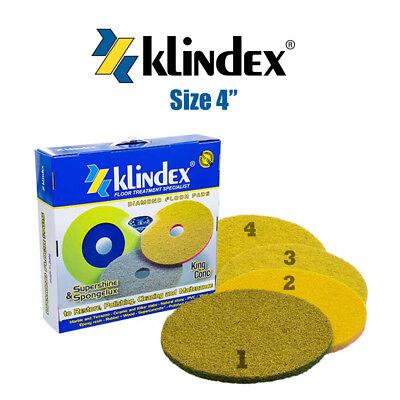 "4""/100cm To Ensure Smooth Transmission 2 Kind-Hearted Klindex Diamond Floor Pad System Set Supershine Soft 1 3 & 4 Pads"