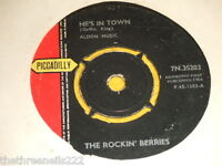 """VINYL 7"""" SINGLE - THE ROCKIN' BERRIES - HE'S IN TOWN - 7N.35203"""